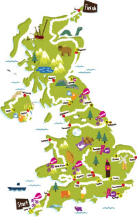 Map of The Big Pedal 2012 route.